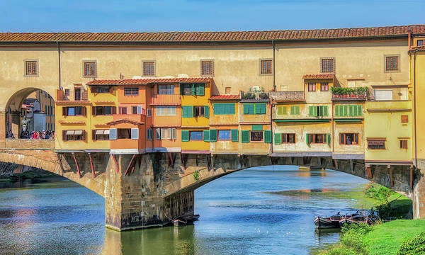Photograph - Old Bridge In Florence Italy by Gary Slawsky