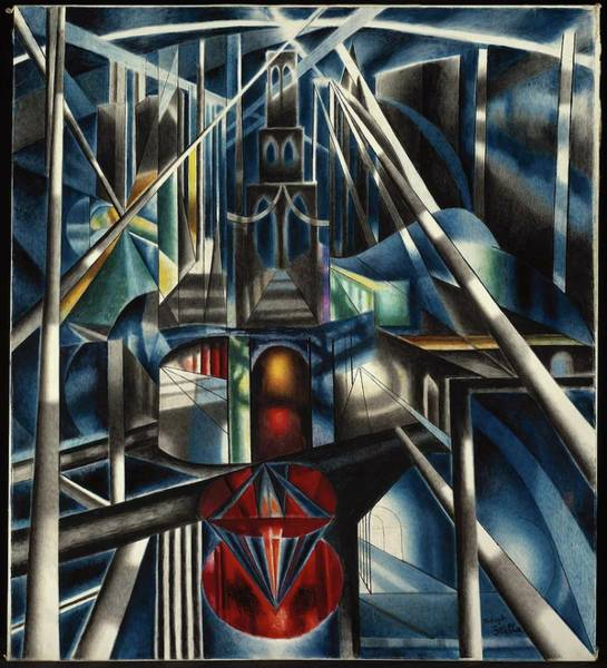 Wall Art - Painting - Old Brooklyn Bridge by Joseph Stella