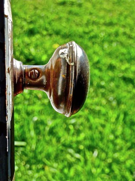 Photograph - Old Brown Doorknob by Diana Hatcher