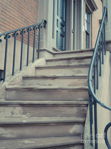 Photograph - Old Brownstone Staircase by Edward Fielding