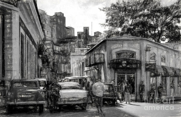Photograph - Old Buildings And Cars In Havana - V2 by Les Palenik