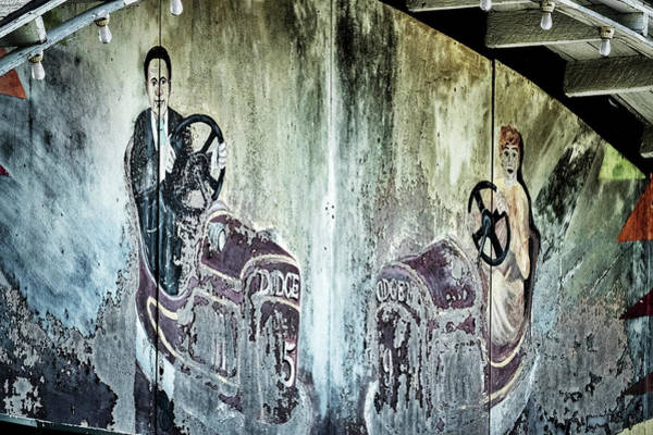 Photograph - Old Bumper Car Mural by Stuart Litoff
