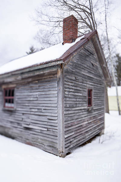 Dwelling Photograph - Old Cabin In The Snow Musterfield Farm North Sutton by Edward Fielding