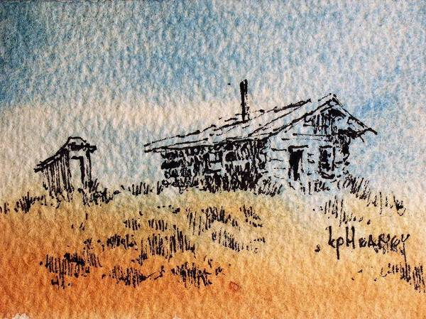 Mixed Media - Old Cabin by Kevin Heaney