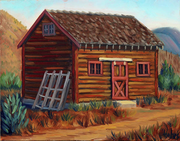 Painting - Old Cabin by Kevin Hughes