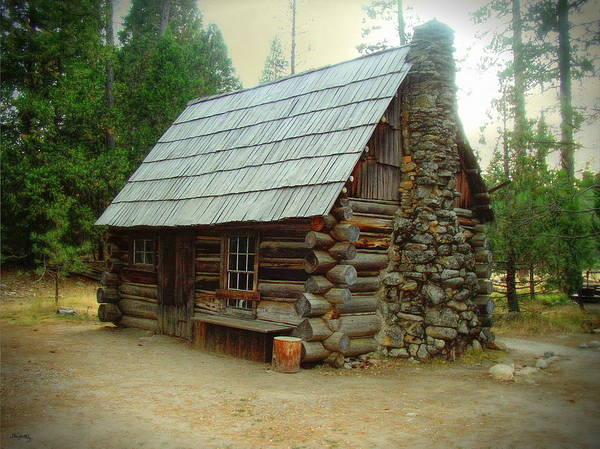 Photograph - Old Cabin - Yosemite Merced California by Glenn McCarthy Art and Photography