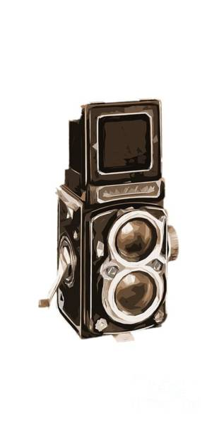 Painting - Old Camera Phone Case by Edward Fielding
