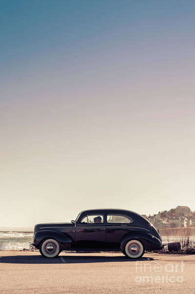 Wall Art - Photograph - Old Car At The Beach by Edward Fielding