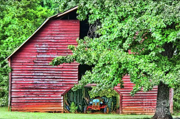 Photograph - Old Car Hidden In The Barn by Diana Raquel Sainz