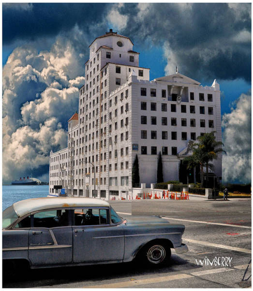 Digital Art - Old Car In Long Beach by Bob Winberry