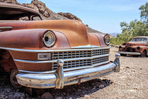 Wall Art - Photograph - Old Cars In The Desert, Eldorado Canyon, Nevada by Edward Fielding