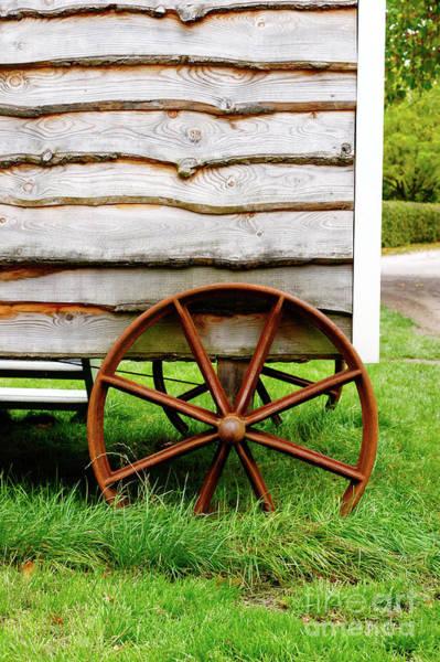 Wall Art - Photograph - Old Cart Wheel by Tom Gowanlock