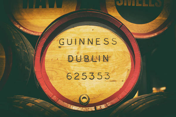 Wall Art - Photograph - Old Cask In Guinness Storehouse, Dublin by Oksana Bystritskaya