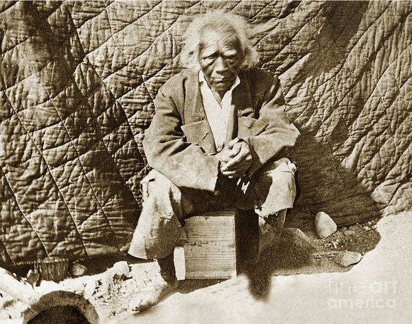Photograph - Old Cassiano - 136 Years Old In 1888. San Antonio Mission Indian by California Views Archives Mr Pat Hathaway Archives