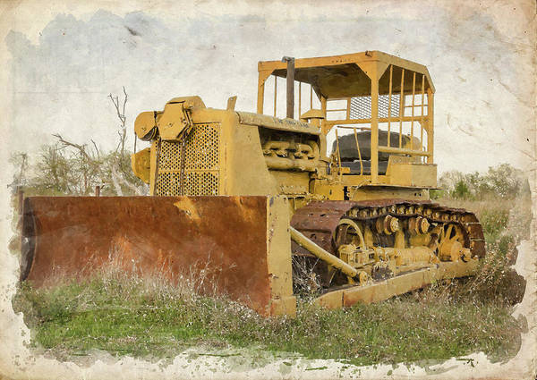 Bulldozer Photograph - Old Cat Watercolor IIi by Ricky Barnard