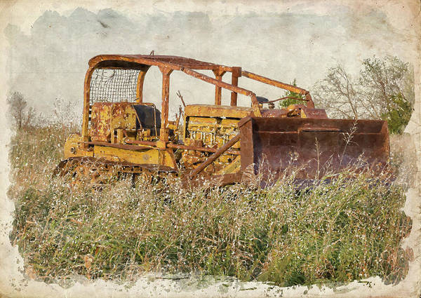 Bulldozer Photograph - Old Cat Watercolor by Ricky Barnard