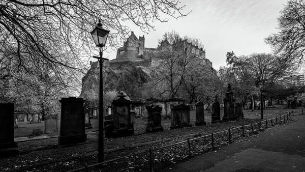 Photograph - Old Cemetery With Edinburgh Castle In Background by Jacek Wojnarowski