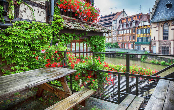 Photograph - old center of Strasbourg by Ariadna De Raadt