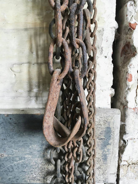 Oxidised Photograph - Old Chains by Tom Gowanlock