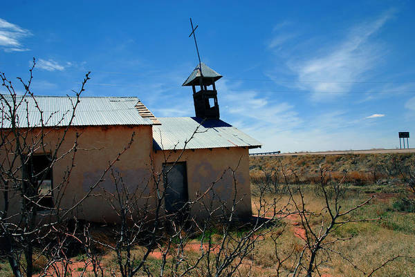Photograph - Old Chapel On Route 66 In Newkirk Nm by Susanne Van Hulst