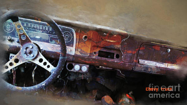 Digital Art - Old Chevy 2016 by Kathryn Strick
