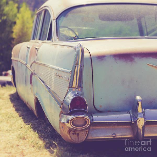 Wall Art - Photograph - Old Chevy Bel Air Junkyard Utah by Edward Fielding