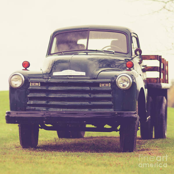 Wall Art - Photograph - Old Chevy Farm Truck In Vermont Square by Edward Fielding