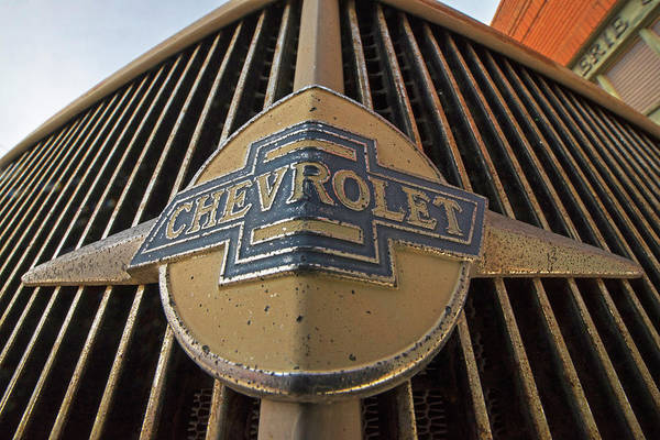 Photograph - Old Chevy Grill Lowell Arizona Az by Toby McGuire
