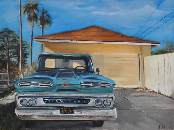 Old Chevy Truck Painting - Old Chevy by Lindsay Frost