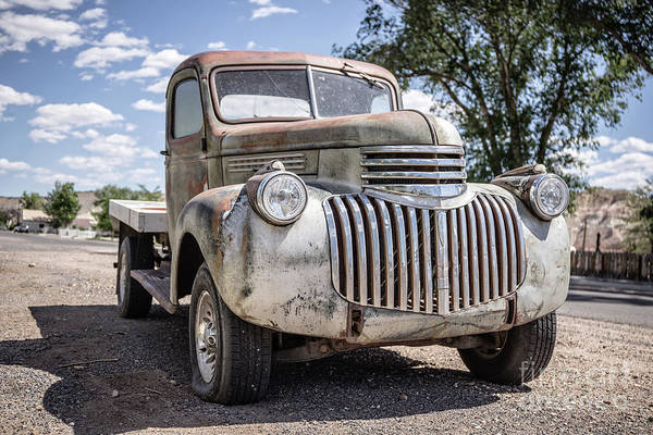 Wall Art - Photograph - Old Chevy Truck Cannonville Utah by Edward Fielding