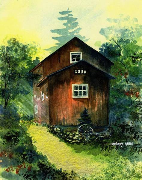 Wall Art - Painting - Old Chicken Coop by Melody Allen