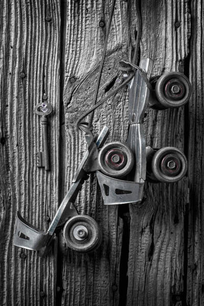 Roller Photograph - Old Childhood Roller Skates by Garry Gay