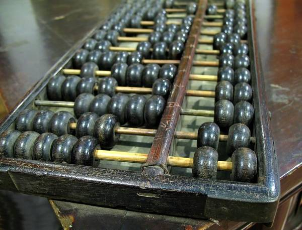 Old Chinese Abacus Art Print