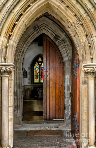 Hinges Photograph - Old Church Entrance by Adrian Evans