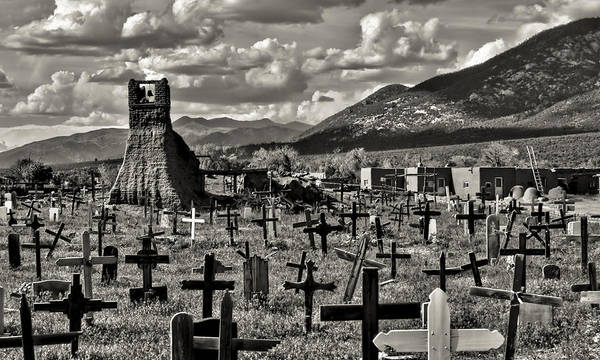 Photograph - Old Church Taos Pueblo by Lou  Novick