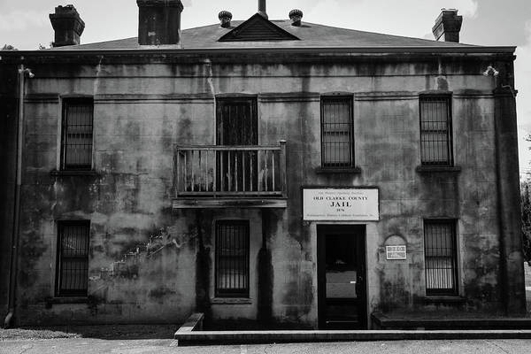 Photograph - Old Clarke County Jail In Bw by Doug Camara