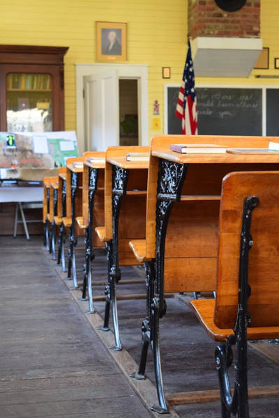Pioneer School Photograph - Old Classroom by Sheila Broumley
