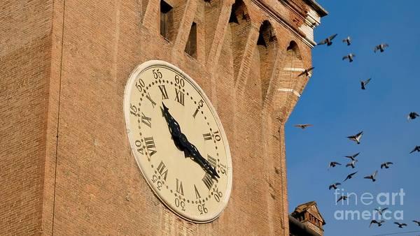 Photograph - Old Clock And Birds by Marina Usmanskaya