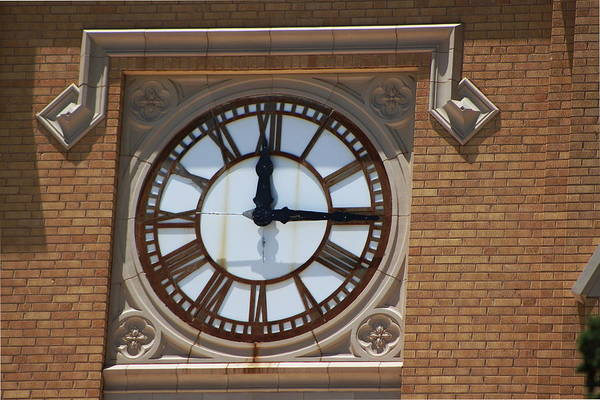 Photograph - Old Clock On Building by Colleen Cornelius