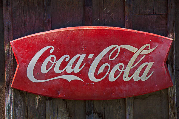 Wall Art - Photograph - Old Coca-cola Sign On Barn by Garry Gay