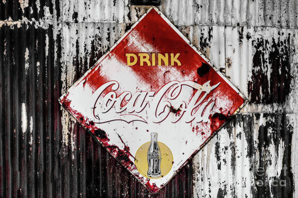 Photograph - Old Coke Sign 2 by M G Whittingham