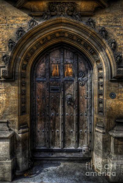 Old College Door - Oxford Art Print