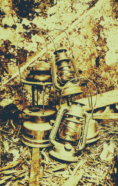 Oil Lamp Photograph - Old Colonial Oil Lanterns In Pile by Jorgo Photography - Wall Art Gallery