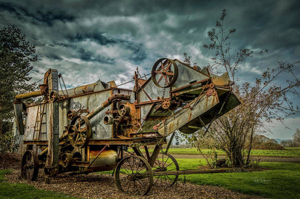 Photograph - Old Combine by Bill Posner
