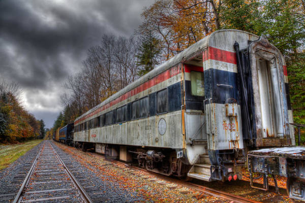 Photograph - Old Connecticut Department Of Transportation Rail Car by David Patterson