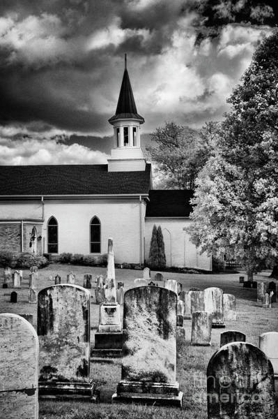 Photograph - Old Country Church Cemetery by Paul W Faust - Impressions of Light