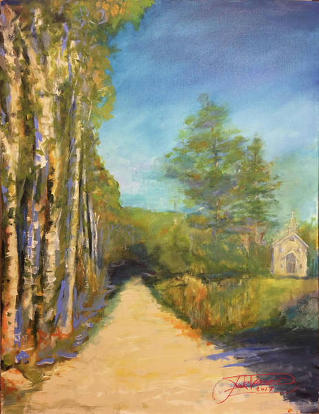 Painting - Old Country Church by Jack Diamond
