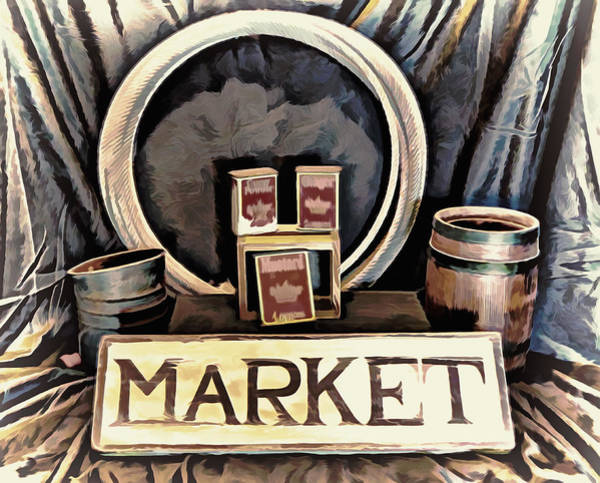 Mixed Media - Old Country Market by Pamela Walton