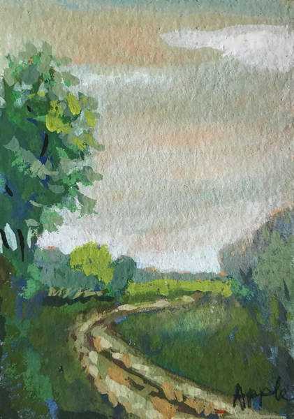 Wall Art - Painting - Old Country Road by Linda Apple