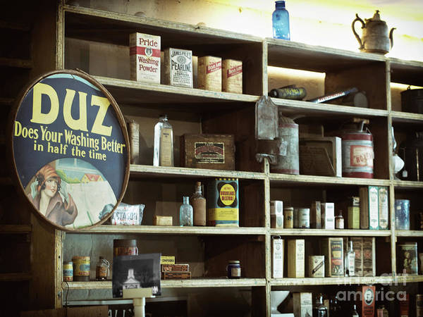 Photograph - Old Country Store Shelves by Mark Miller